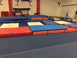 3 in floor trampolines