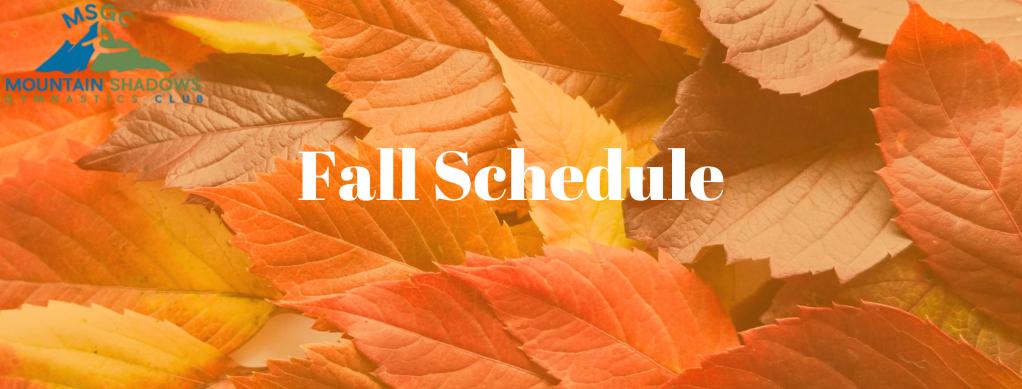 MSGC Fall Schedule